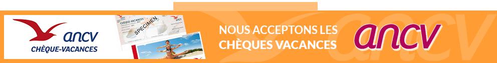 Le Domaine des Vaulx accepte les chèques vacances
