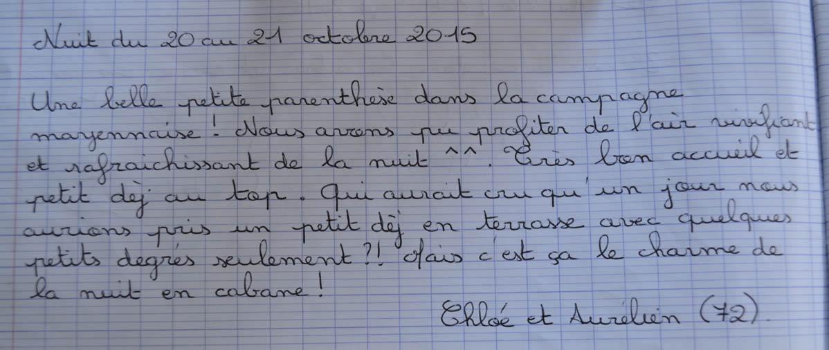 Domaine des Vaulx - Nuit du 20 au 21 octobre 2015