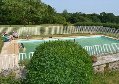 La piscine du gîte de la Grande Poupardière