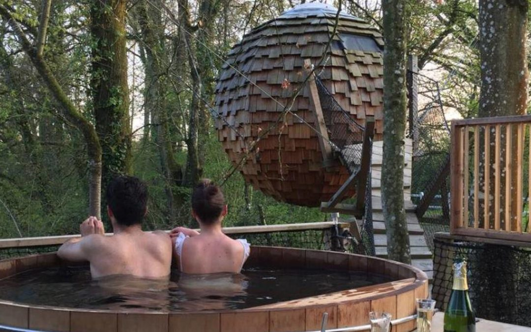 Un spa dans les cabanes construites dans les arbres